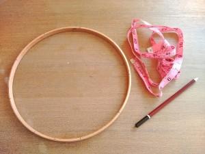 02. Marcar bastidor como hacer atrapasueños tutorial trizas y trazos