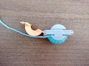 08. Punto tejer paso a paso tutorial gorro y bufanda para bebé - Tejer bufanda paso 2 pompón