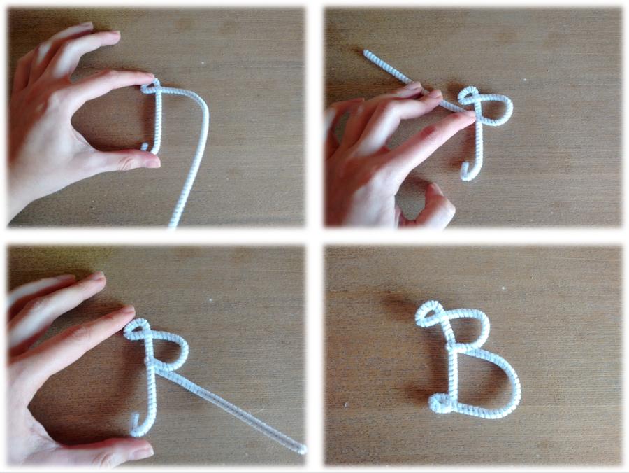01 Tutorial cómo hacer letras lana trizas y trazos - dar forma