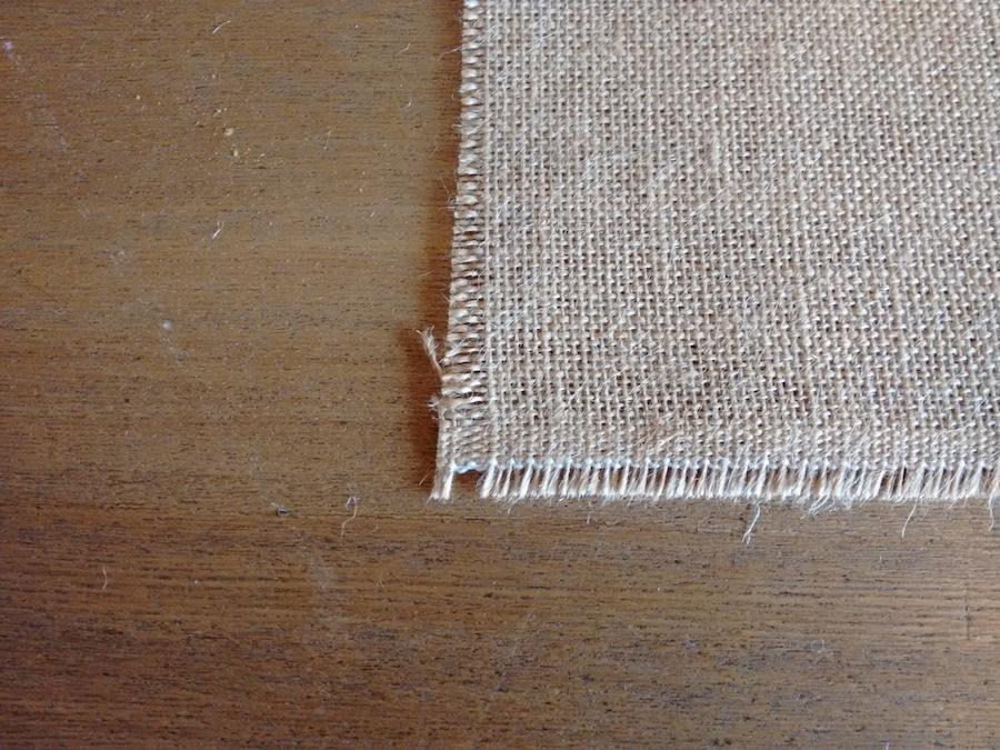 01 Tutorial cómo hacer mantelito rústico tela arpillera trizas y trazos - no se remata