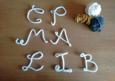 02 Tutorial cómo hacer letras lana trizas y trazos - varias letras