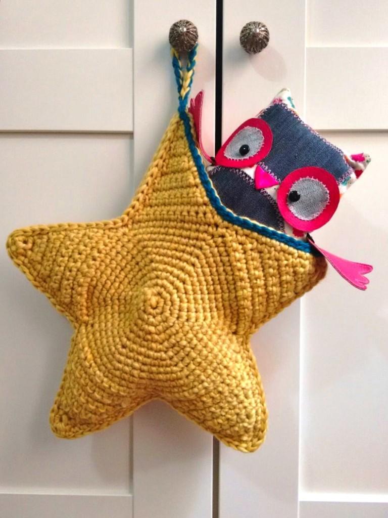 tutorial cómo hacer estrella ganchillo crochet bolsa trizas y trazos