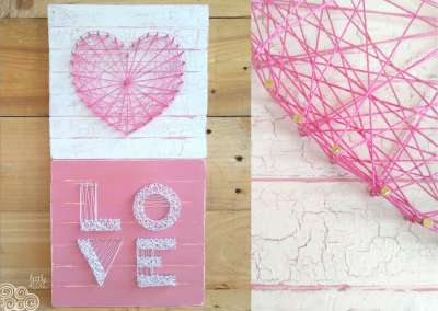 Taller de decoración con chalk paint y string art