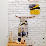 Taller tapiz Trizas y Trazos amarillo