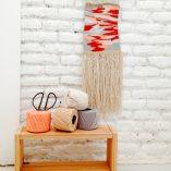Taller tapiz Trizas y Trazos rojo