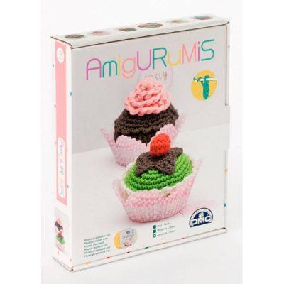 Kit de amigurumi pasteles DMC caja