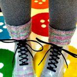 Retrosaria Rosa Pomar Mondim calcetines puestos
