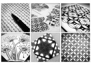 taller zentangle tesela dibujos