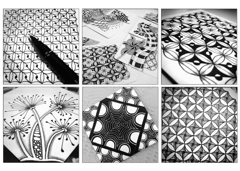 Taller de zentangle en Trizas y Trazos Madrid