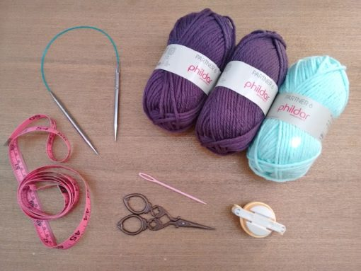 00. Punto tejer paso a paso tutorial gorro y bufanda para bebé - Materiales