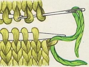 Cómo hacer remallado grafting costura invisible punto jersey 02