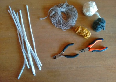 00 Tutorial cómo hacer letras lana trizas y trazos - materiales