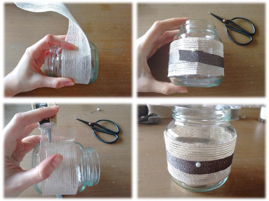 01 Tutorial cómo adornar velas cintas trizas y trazos - vela 1