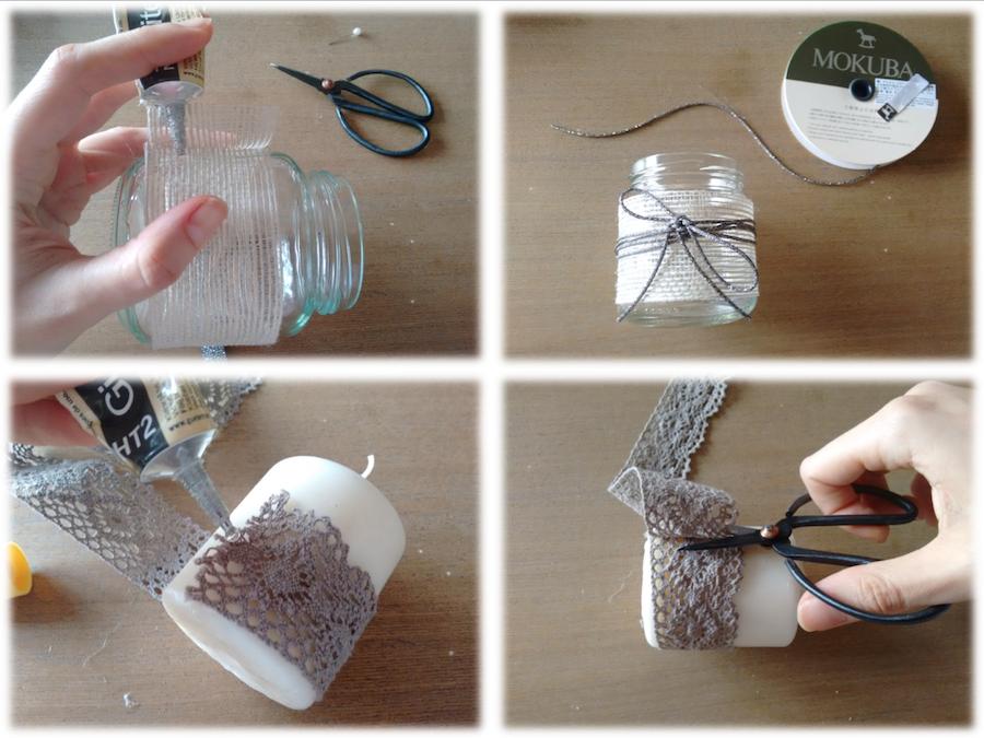 02 Tutorial cómo adornar velas cintas trizas y trazos - vela 2