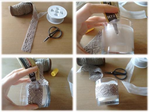 03 Tutorial cómo adornar velas cintas trizas y trazos - vela 3