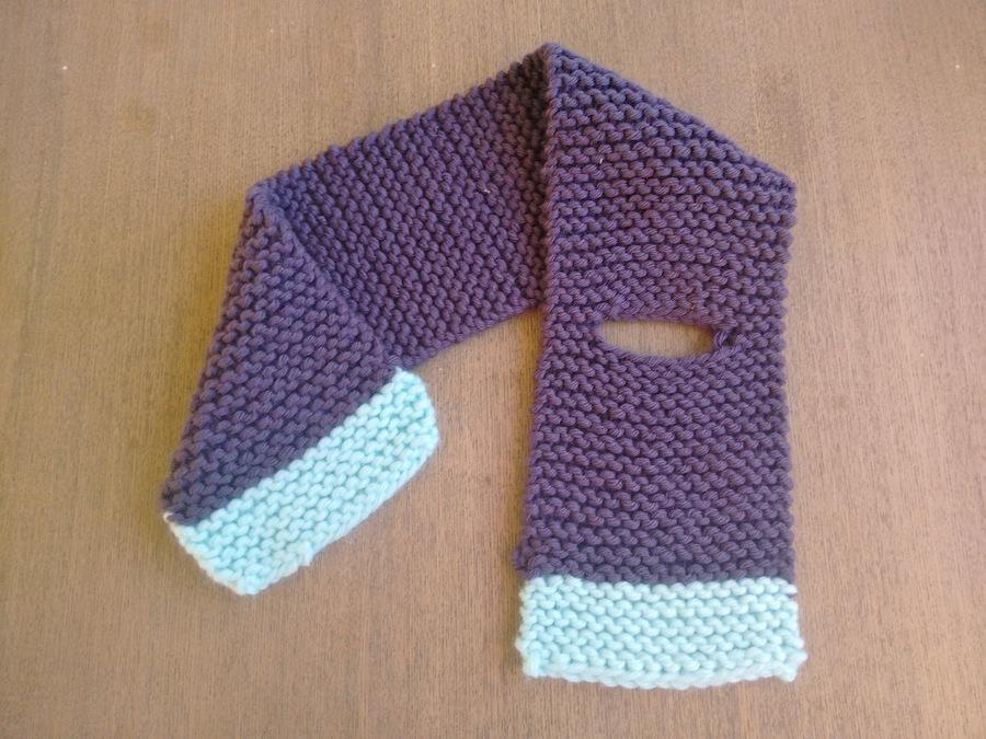 Punto tejer paso a paso tutorial conjunto gorro y bufanda para bebé trizas y trazos bufanda