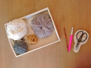 Tutorial paso a paso posavasos decoración mesa navidad invierno ganchillo Trizas y Trazos - 00. Materiales