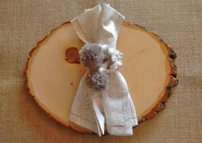 Tutorial paso a paso servilleteros decoración mesa navidad invierno ganchillo Trizas y Trazos