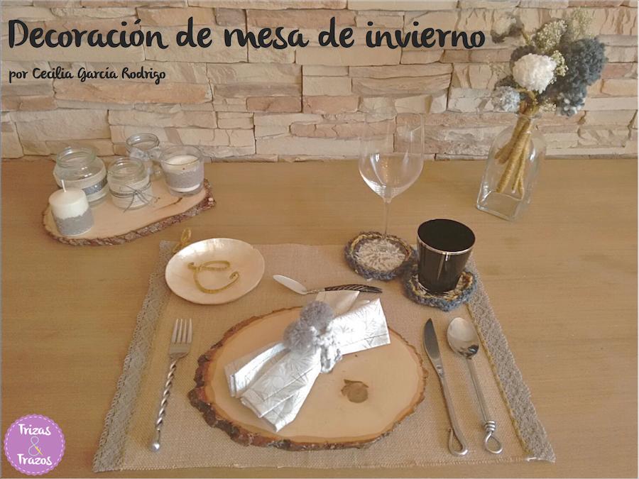 decoración de mesa de invierno navidad Cecilia Garcia Rodrigo