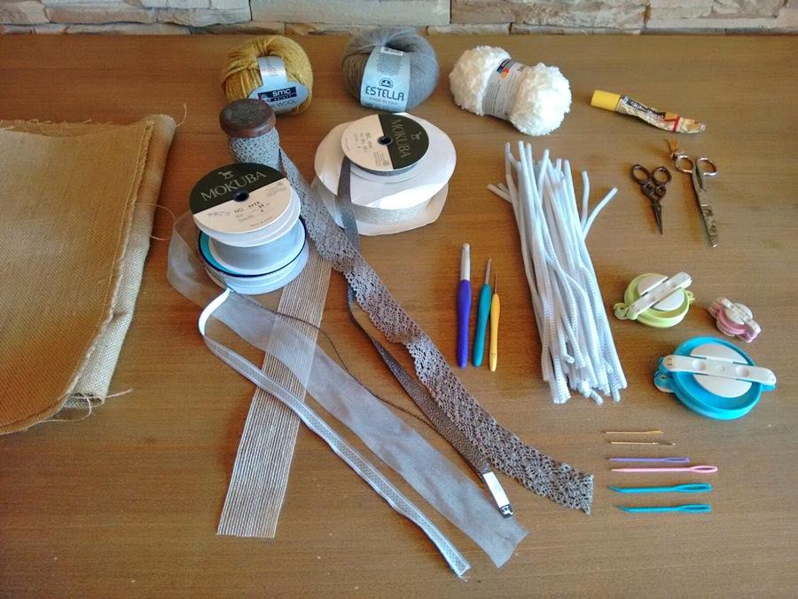 materiales decoración de mesa de invierno navidad Cecilia Garcia Rodrigo trizas y trazos